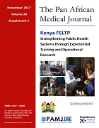 Kenya Field Epidemiology and Laboratory Training Program; Strengthening Public Health Systems through Experiential Training and Operational Research